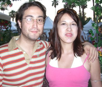 The author and Sean Lennon