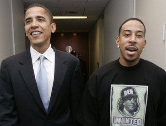 Barack Obama and Ludacris