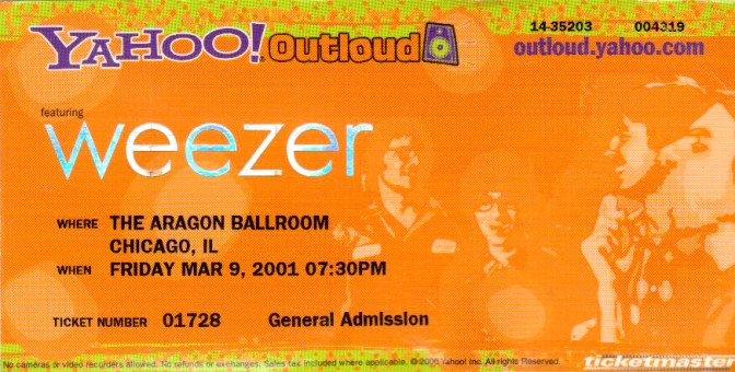 Weezer at the Aragon