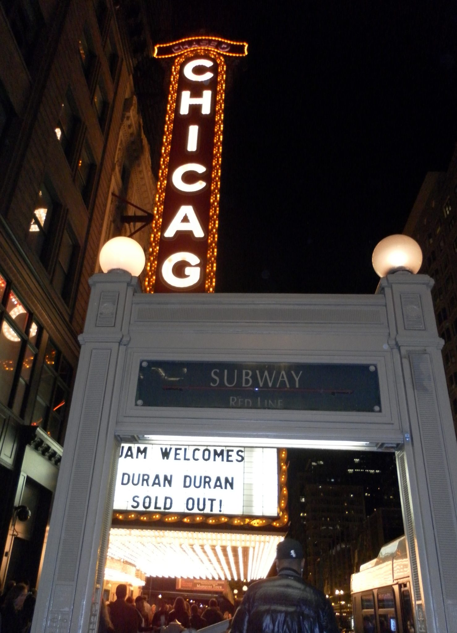 Chicago Theatre marquee @ Red Line, 10.21.2011
