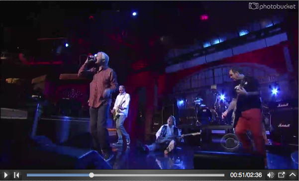 GBV Bassist Wipes Out on Letterman