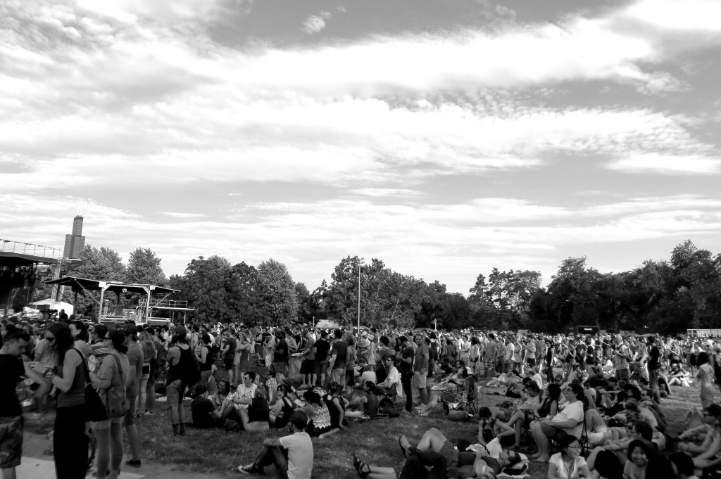 Pitchfork crowd, photo by Alan M. Paterson
