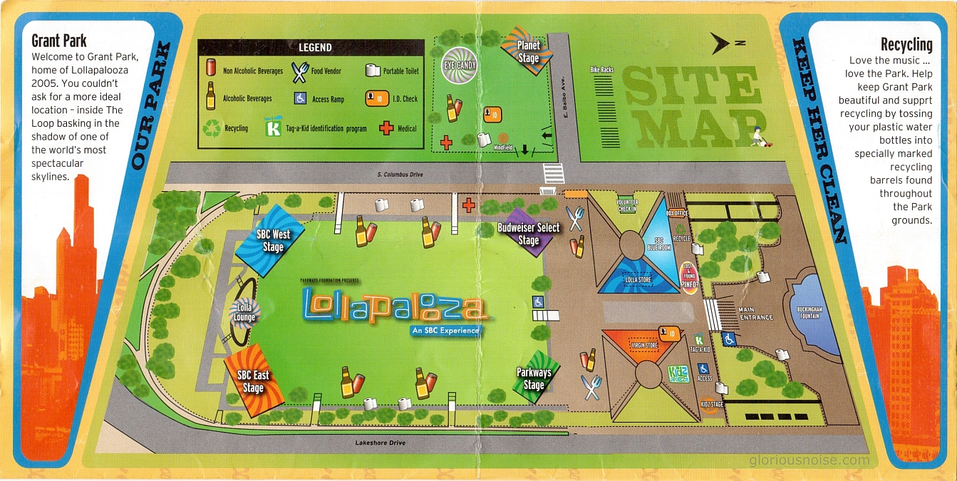 Lollapalooza 2005 map (click for full size)
