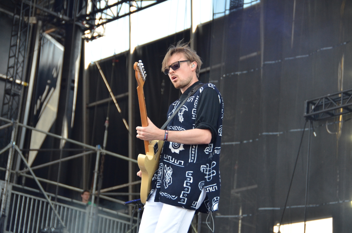 Django Django on the Samsung stage on Saturday, August 1, 2015