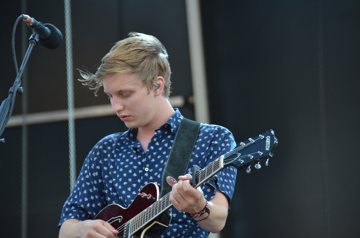 George Ezra on the Samsung stage on Sunday, August 2, 2015
