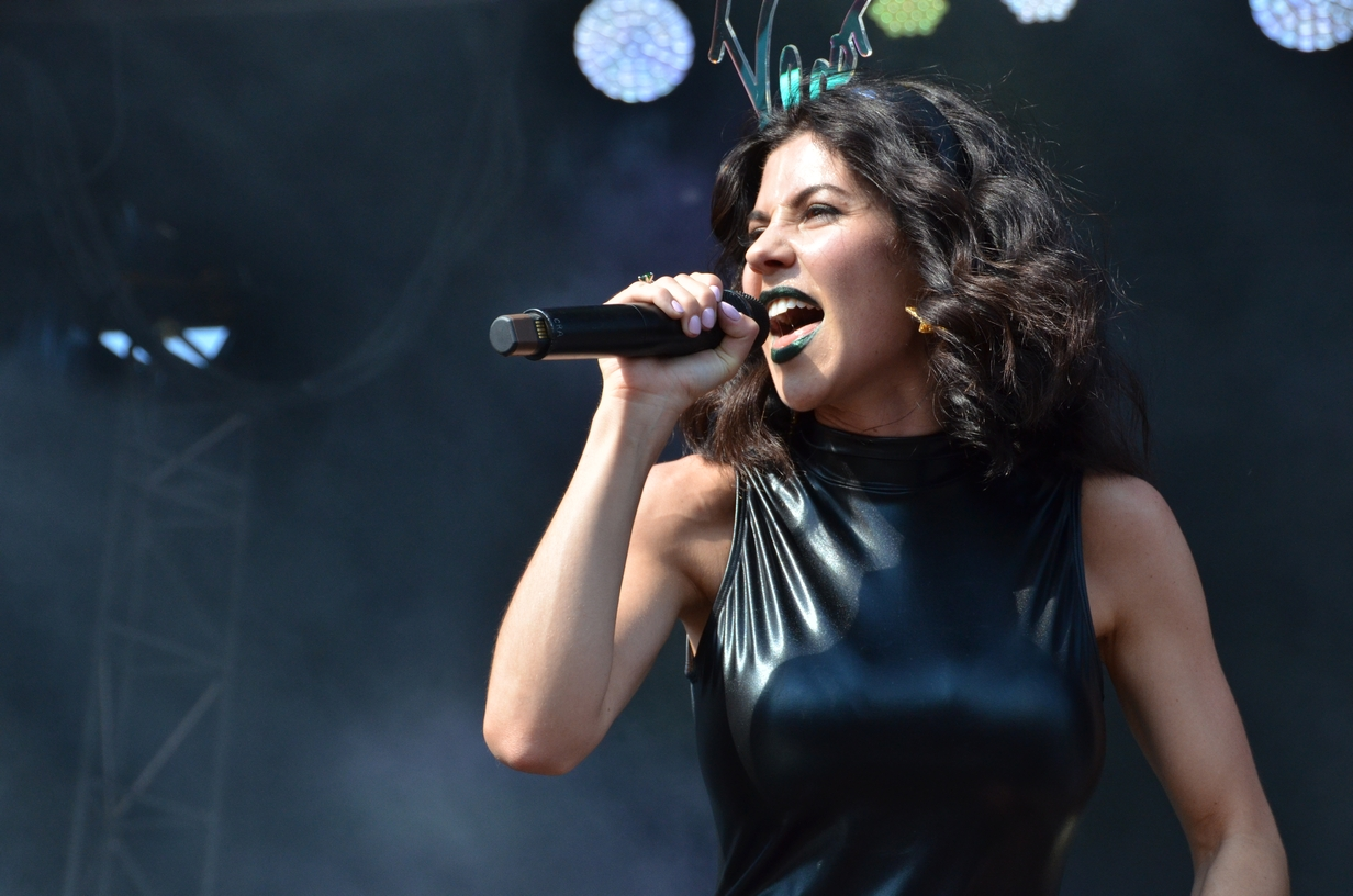 Marina and the Diamonds on the Sprint stage on Sunday, August 2, 2015