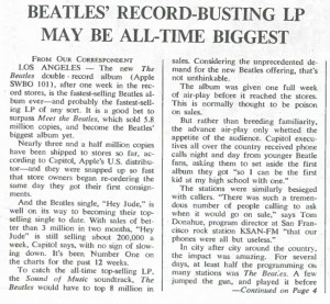 Beatles' Record-Busting LP (Rolling Stone Dec 21 1968)