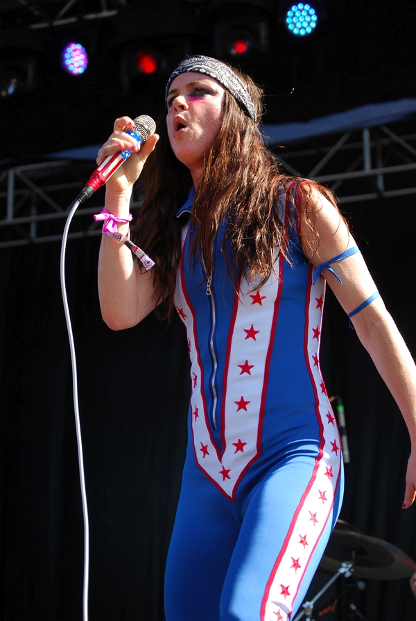Juliette Lewis at the Rock stage on Sunday
