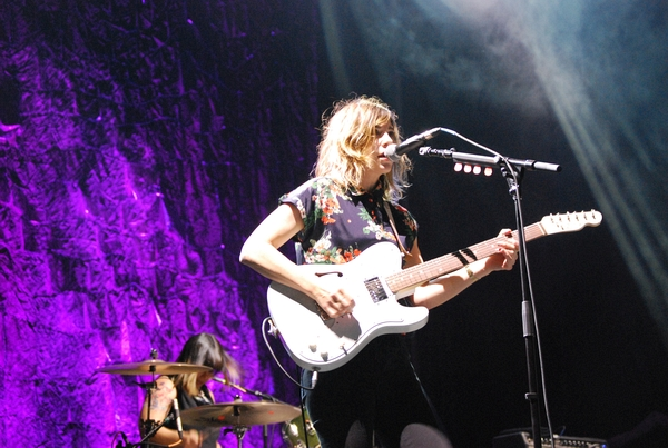 Sleater-Kinney at the Rock stage on Sunday