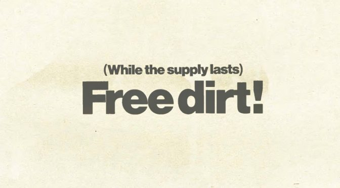 Great ideas in record label marketing: Free Dirt