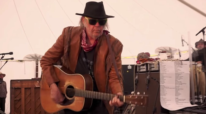 New Neil Young video: Peace Trail