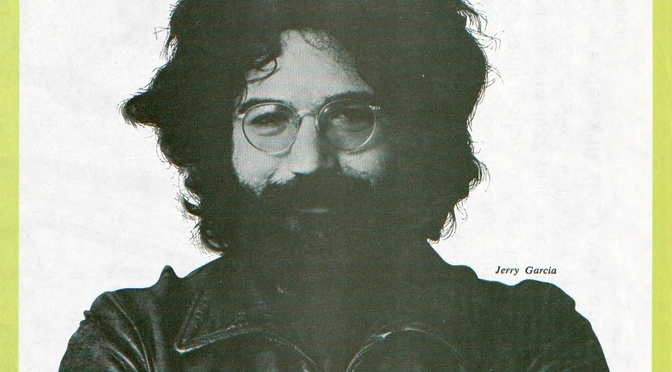 Jerry Garcia on the cover of the Rolling Stone